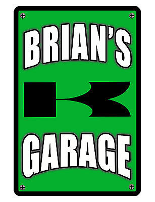 Personalized Sign Your Name Moto Durable Aluminum Full Color Custom Metal Sign
