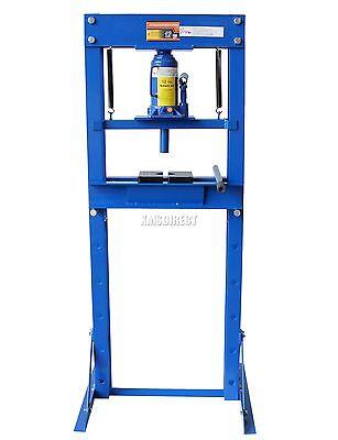 FoxHunter Blue 12 Ton Tonne Hydraulic Workshop Garage Shop Press Heavy Duty New