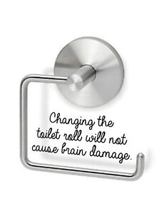 Funny Toilet Roll Holder Quote Wall Stickers For Walls