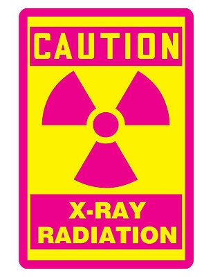 X Ray Radiation Sign Custom Metal Sign Durable Aluminum No Rust Sign Xd283