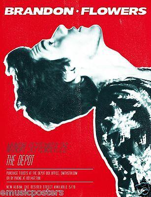 "BRANDON FLOWERS 2015 ""DESIRED EFFECT TOUR"" SALT LAKE CONCERT POSTER -The Killers"