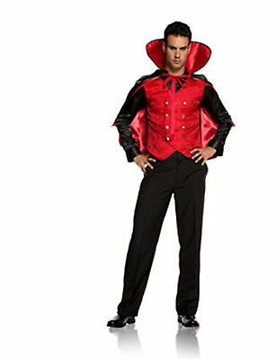 Villian Costume (NWT Sexy Vampire Villian Dracula Costume 2 pc Shirt with Vest and Cape Size)
