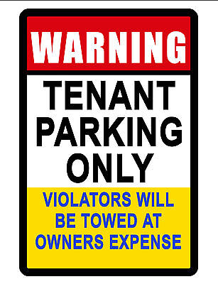 Tenant Parking Only Sign Durable Aluminum No Rust Full Color Custom Sign027