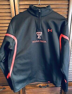 Under Armour Texas Tech Black/Red Quarter-Zip Jacket Guns Up Mens Size Small Texas Tech Colors