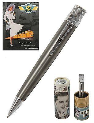 Shot Pens (Retro 51 Big Shot Titanium & Rhodium Tornado Rollerball Pen #TRR-1516)