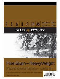 A5-DALER-ROWNEY-FINE-GRAIN-HEAVYWEIGHT-CARTRIDGE-PAD-200gsm-ARTIST-SKETCH-PAPER