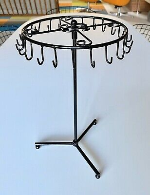 Necklace Or Bracelet Jewelry Spinning Display Stand In Black Metal Gently Used