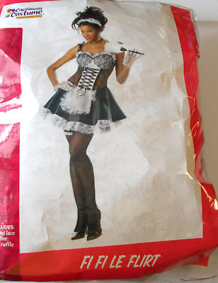 Fi Fi Le Flirt French Maid Adult Costume Dress S M L NIP](Costume Fi)