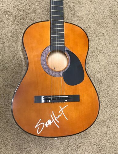 * SAM HUNT * signed autographed acoustic guitar * HOUSE PARTY * EXACT PROOF *
