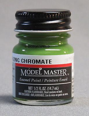 TESTORS PAINT MODEL MASTER GREEN ZINC CHROMATE ENAMEL 1/2oz 14.7ml TES1734 NEW