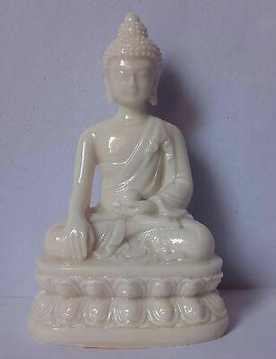 indian craft Buddha Sitting Statue Idol Showpiece White Marble