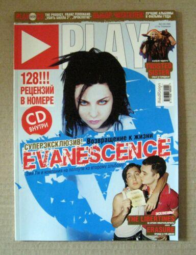 Play magazine 2005 Russia Evanescence Amy Lee Erasure The Libertines Rare