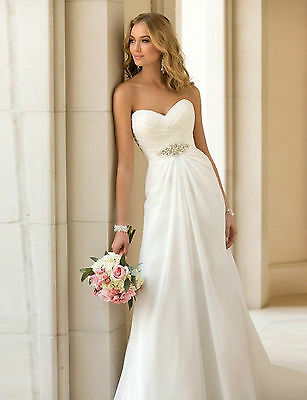 Brautkleid Standesamt Hochzeitskleid A-Linie Gr. 34 bis 46 Braut ...