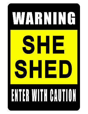 She Shed Sign Durable Aluminum Super High Gloss No Rust Custom Metal Sign