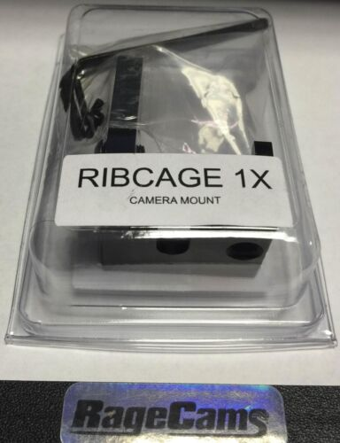 RIBCAGE BACKBONE 1x MOUNT MOD KIT FOR GOPRO HD HERO4 CAMERA BLACK SILVER MOD1X