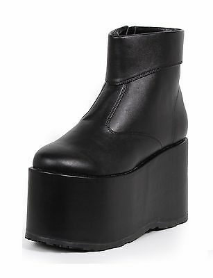 Black KISS Gene Simmons Munsters Platform Costume Boots Shoes Mens size 11 12 13](Gene Simmons Costume)