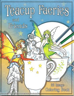 Amy Brown Coloring Book Teacup Faeries and Friends Fairy Faery New