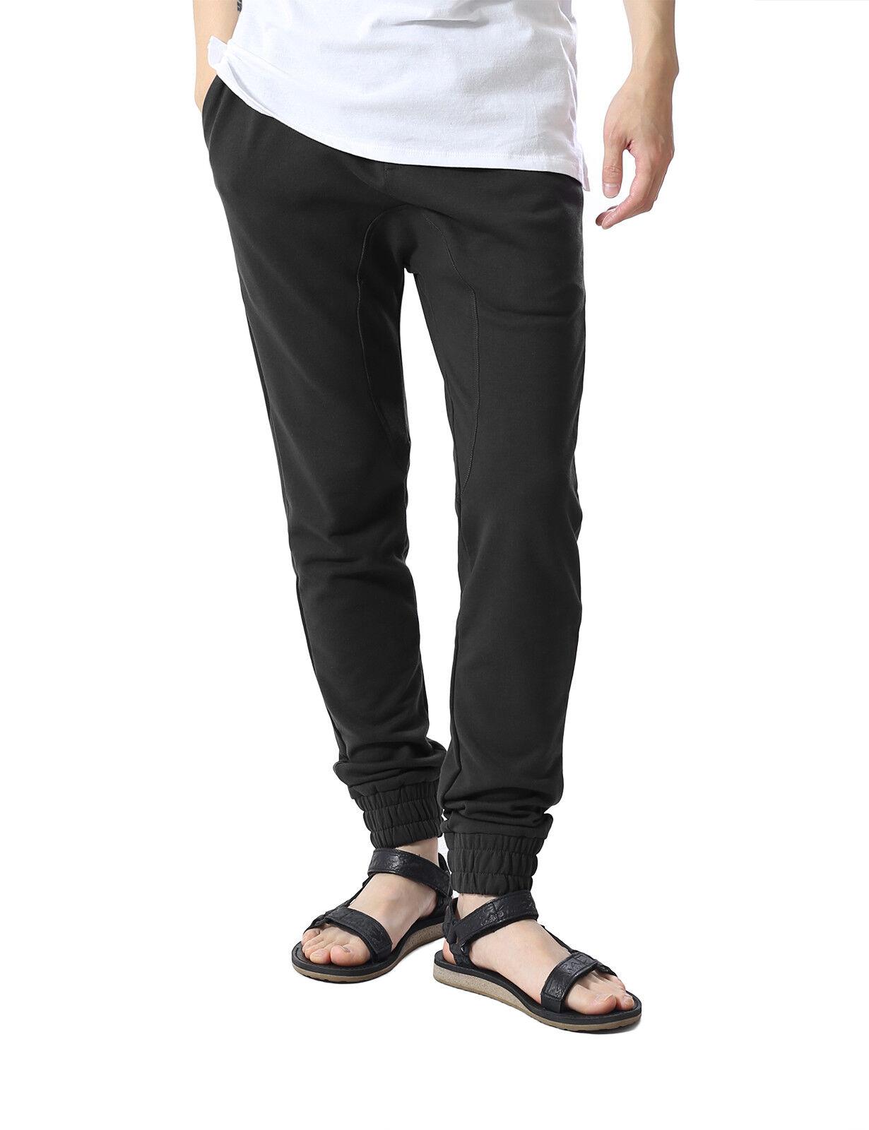 JD Apparel Mens Fleece Jogger Pants Elastic Active Urban Sli