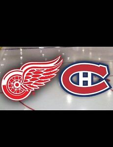 BILLETS 2x!!! Red wings vs Canadien club dejardins 204