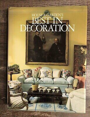 House & Garden's Best in Decoration (1987, HC, DJ) 1st Ed Home Interior