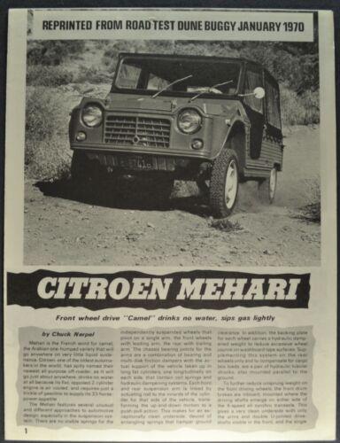 1970 Citroen Mehari Road Test Sales Brochure Folder Excellent Original 70