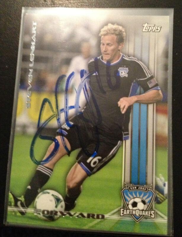 San Jose Earthquakes Steven Lenhart Autographed Signed 2013 Topps MLS Card