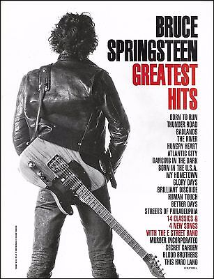 Bruce Springsteen 1995 Greatest Hits ad 8 x 11 advertisement print
