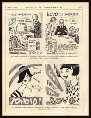 VINTAGE PUNCH CARTOON - ADVERTISING HUMOR [CONTRASTS] POSTER ADVERTISING - 1929