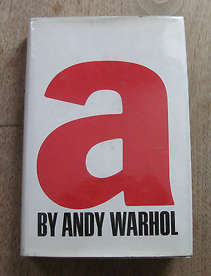 "SIGNED  -  ""A"" a novel by Andy Warhol  - 1968 - 1st/1st  HCDJ - Grove Press"
