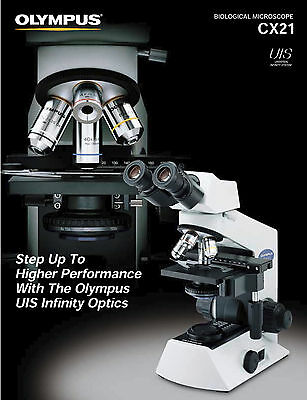 Olympus Cx-21 Microscope With 4x 10x And 40x Objectives - New