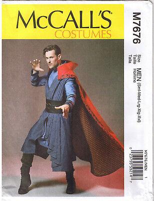 Men Cosplay Vest Tunic Cape Belt McCall 7676 Costume Sewing Pattern S M L XL XXL