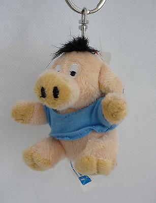 Uli Stein Schlüsselanhänger Beanbag Schwein U8976 mit eingesticktem Kleeblatt