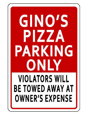 Personalized Business Parking Sign Durable Aluminum No Rust Custom Business Red3