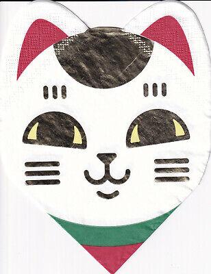 4 Servietten mit Katze - Cut out