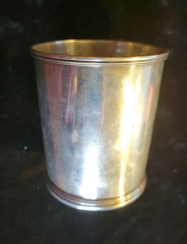 JULEP CUP/BEAKER RARE AUGUSTA, GEORGIA CLARK, RACKETT & CO. COIN SILVER 1840-52