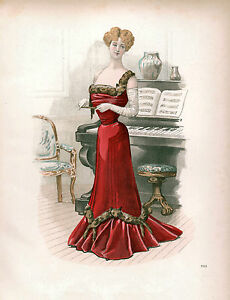 3-Victorian-Edwardian-Ladies-Dress-Design-Fashion-Colour-Pictures-Reprint-Prints