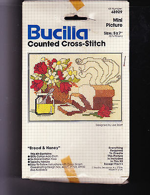 Counted Cross Stitch Kit: Bucilla Bread & Honey 5 X 7