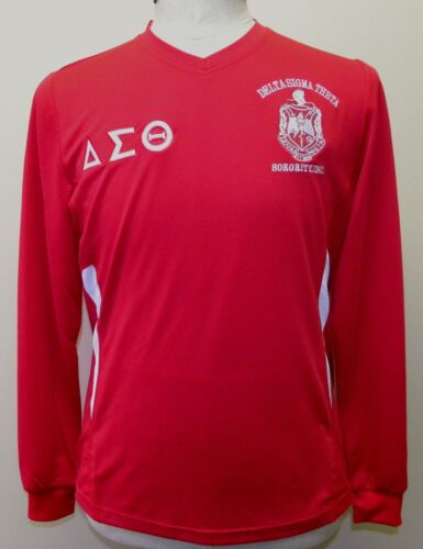 Delta Sigma Theta Sorority Dri-Fit Shirt- Long Sleeve- Red-Size 2XL-New!
