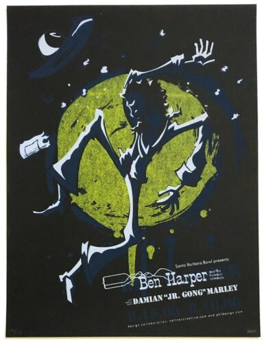 MINT & SIGNED Ben Harper 2006 Santa Barbara Power House Poster 19/75