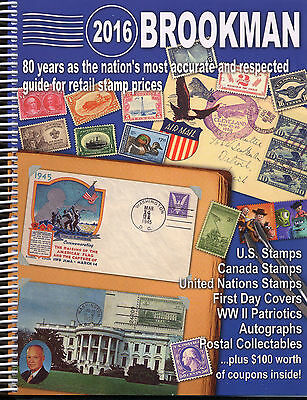 Brookman 2016 SPIRAL Price Guide For USA Canada United Nations Stamps & Covers