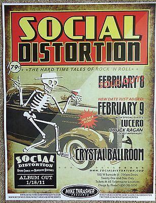 SOCIAL DISTORTION 2011 Gig POSTER Portland Oregon Concert