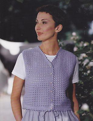 - Crochet Pattern ~ LADIES DAINTY MESH VEST ~ Instructions