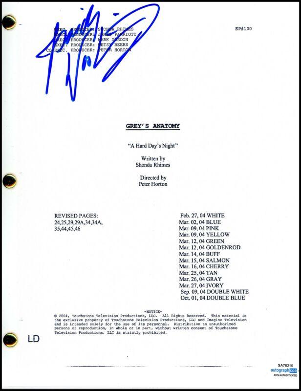 "Isaiah Washington ""Grey's Anatomy"" AUTOGRAPH Signed Full Complete Script ACOA"