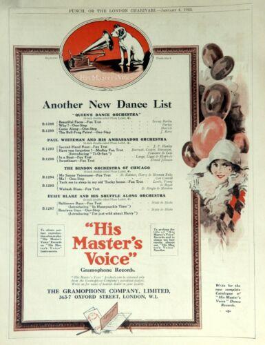 EUBIE BLAKE & PAUL WHITEMAN  - 1922 Rare ADVERTISEMENT - Victor Records