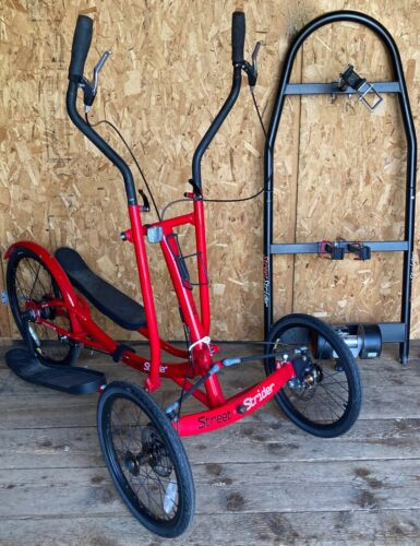 StreetStrider Eclipse Elliptical Bike Street Strider w/Indoor Trainer Stand