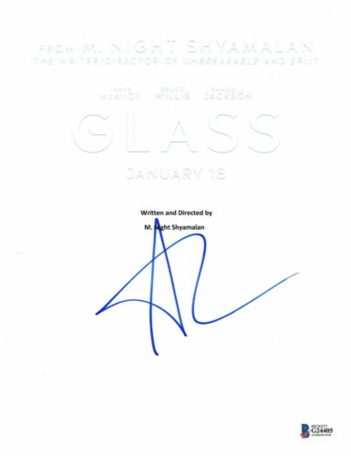 ANYA TAYLOR-JOY AUTOGRAPH GLASS SIGNED MOVIE SCRIPT CASEY SPLIT BECKETT BAS COA