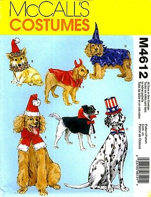 WOW! DOG WIZARD COUNT DRACULA SANTA CLOWN COSTUMES SEWING PATTERN McCalls 4612