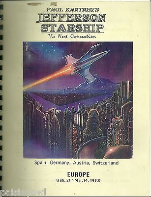 Jefferson Starship Europe Concert Tour Itinerary 1993 Paul Kantner Jack Casady