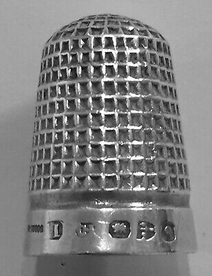 Victorian Child's Thimble Charles Horner Chester Antique Sterling Silver Size 1