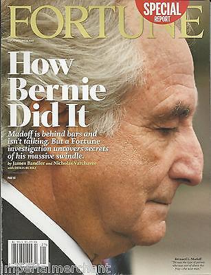 Fortune Magazine Bernie Madoff Business Guide To Congress Royal Bank Of Scotland